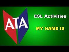 ESL Activities - My Name Is