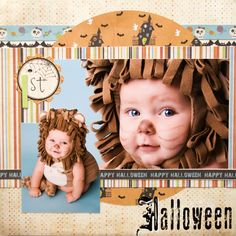 Halloween cute Idea with 2 pictures.  One close and one far away