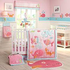 Carter's Sea Collection 4 Piece Crib Set, Pink/Blue/Turquoise, http://www.amazon.com/dp/B00OK127P6/ref=cm_sw_r_pi_awdm_dtePub0BHX1Y8