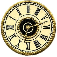 Vintage Images - More Cute Clock Faces - Steampunk - The Graphics ...