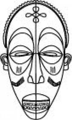 Masques africains 23 masques africains peindre ou - Dessin de masque africain ...