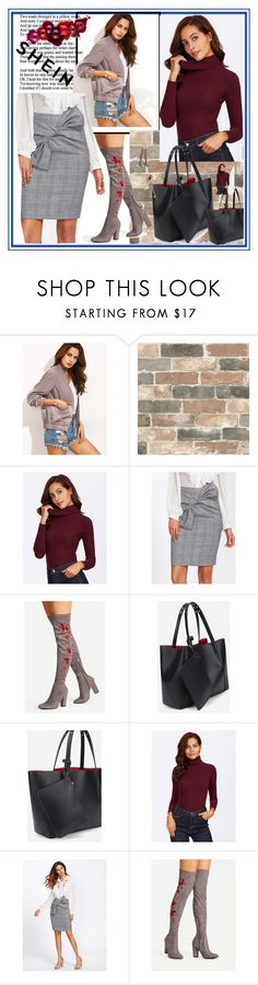 """""""Sheinside-V/3"""" by nihada-niky ❤ liked on Polyvore featuring Wall Pops! and Sheinside"""