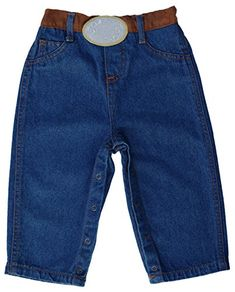 LITTLE-GUEST Baby Girls Knee-Length Jeans Toddler Elastic Waist Denim Shorts G205