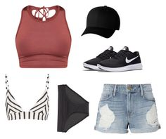 """""""Beach day"""" by maddi-medsker on Polyvore featuring Frame, NIKE, Missoni Mare, Title Nine and Flexfit"""