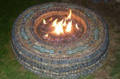 Mosaic Fire Pit by Jeffrey Bale, of course.