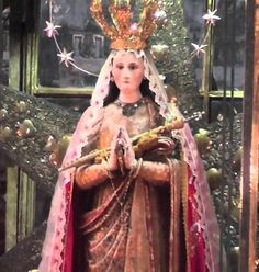 Actual statue of Virgin Mary from inside the tree - Our Lady of Ocotlán