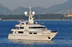 The 49.90 metre Codecasa Lady Ann Magee at anchor - Daily Photo - SuperyachtTimes.com
