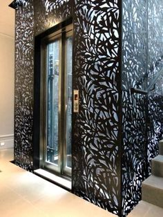 Grace & Webb's interior laser cut screens and panels. - Grace & Webb - Bespoke laser cut screens and panels for luxury architectural and interior projects Laser Cut Screens, Laser Cut Panels, Metal Panels, Balustrade Design, Elevator Design, Laser Cut Steel, 3d Cnc, Decorative Screens, Metal Screen