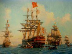 chegada da família real portuguesa ao Brasil - navios e navegadores: Museu Naval do Rio de Janeiro
