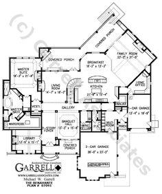 Benavante House Plan # 07091, 1st Floor Plan, Craftsman Style House Plans, Traditional Style House Plans