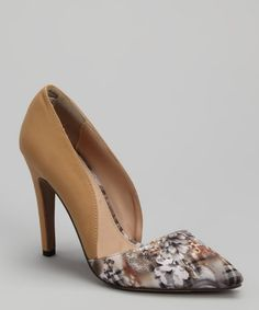 Take a look at this Wild Rose Natural Floral Alene-13B Pump by Wild Rose on #zulily today!