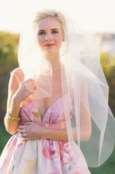 Image by Kat Harris - Design by True Event - Styling by Beth Chapman, The White Dress by the Shore - Flowers by Hana Floral Design - Dress by Kate McDonald - Earrings by Haute Bride - Bracelet by Aquinnah - Veil by Lacey Eden Preppy Wedding Inspiration, Floral Dress Design, Event Styling, Bridal Looks, Summer Wedding, Bridesmaid Dresses, Wedding Dresses, Photoshoot, Hana