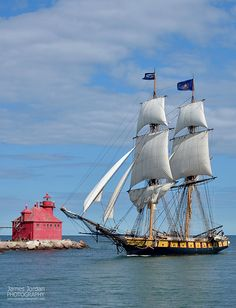 Tall ships in Sturgeon Bay | Tall ships sailing from Chicago… | Flickr