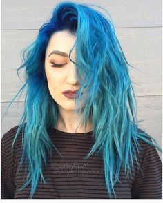 @hairbyelm and @playwithscissors from @efoxxhair are the artists... Pulp Riot is the paint.
