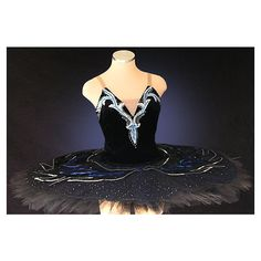 Ballet Tutu - Beautiful Classic black Swan Lake professional stage... ($620) ❤ liked on Polyvore