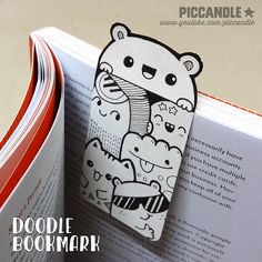 DIY ~ Mini Doodle Bookmark [Video] | by Pic Candle