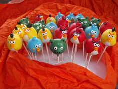 how to make angry birds crafts | Angry Birds Cake Pops Ideas 5 - kootation.com