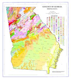 Geologic Map Of Georgia U S State Wikipedia The Free Encyclopedia