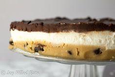 No Bake Cookie Dough Cheesecake - Joy Filled Eats