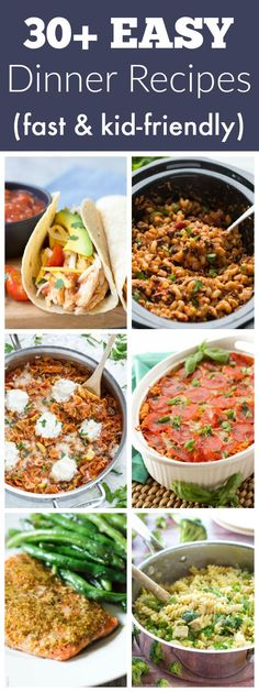 EASY dinner recipes for your busy days, including back to school time! Not only…