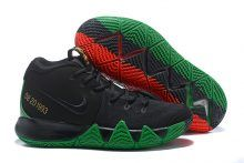 "6db01520c4a4 New Nike Kyrie 4 ""BHM"" Black Green Red Metallic Gold Nike"