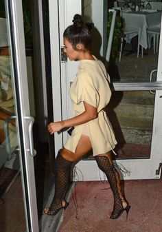Thigh high boots | OTK boots | Sandals | Open Toe | Net | Lace Up | Yeezy Inspired | Outfit | Womens Fashion | Fashion Killa