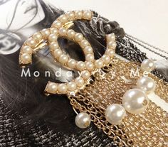 Chanel inspired CC Brooch Dress up any outfit by Mondaybyme, $9.99