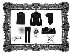 """Sorifer"" by dabeastkids on Polyvore featuring Valentino, JIRI KALFAR, Tommy Hilfiger, Uniqlo, Stacy Adams, Rolex, Bling Jewelry, men's fashion and menswear"