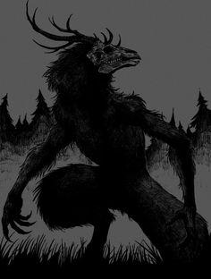 Dark forest glow of the lake an eternal dance of death - Dark forest glow of the lake an eternal dance of death Das schönste Bild für decorating bookshelv - Monster Art, Monster Concept Art, Fantasy Monster, Dark Creatures, Mythical Creatures Art, Arte Horror, Horror Art, Dark Fantasy Art, Le Wendigo