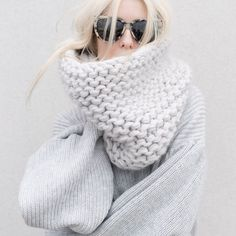 chunky knit scarfs are the ultimate cozy winter accessory