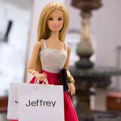 Just doing a little shoe shopping at @jeffreyatlantanewyork #nyfw #barbie #barbiestyle