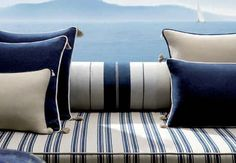 Blue and white from Loro Piana Interiors. Perfect for a beach house