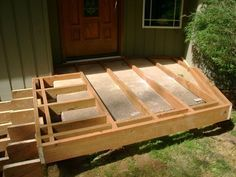 Floating framing over concrete steps