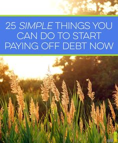 Sick of being in debt? Here are 25 simple things you can do today to start paying it off. (scheduled via http://www.tailwindapp.com?utm_source=pinterest&utm_medium=twpin&utm_content=post1537611&utm_campaign=scheduler_attribution)