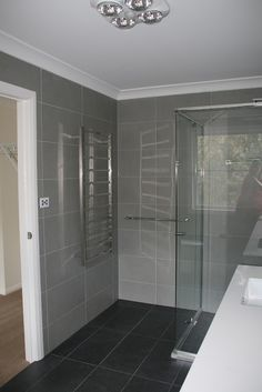 Wall to floor tiling
