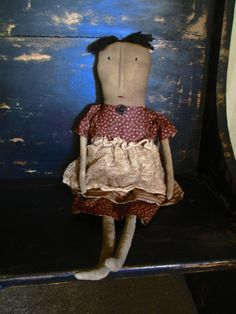 Primitive Doll Clara by Bettesbabies on Etsy, $39.00