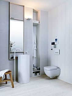 Odour-free features are a good investment for bathrooms with limited natural ventilation and Geberit's Duofresh system is a great option. A push button on the flush plate activates an odour extraction unit whereby extracted air is cleaned by a carbon filter before being discharged back into the room. Prices start from £339.