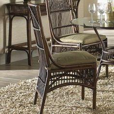 Panama Jack Bora Bora Side Chair with Cushion Upholstery: Skyfall Ocean