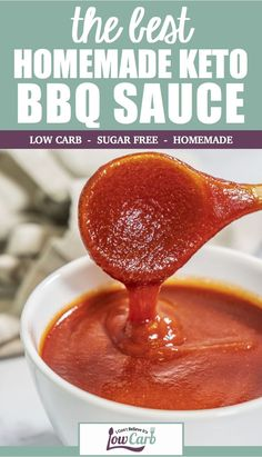 Our Homemade Keto BBQ Sauce is sure to spice up your meal. It's low carb and sugar free, making it the perfect addition to whatever you are grilling or roasting. Low Carb Bbq Sauce, Low Carb Ketchup, Sugar Free Ketchup, Keto Barbecue Sauce Recipe, Keto Sauces, Low Carb Appetizers, Low Carb Side Dishes, Homemade Bbq, Keto Dinner