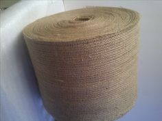 """Beautiful, eco friendly, all natural, 10oz natural burlap fabric is your leading choice for burlap ribbon, table runners, or chair sashes for that special occassion. Please specify at checkout your preferences in our """"comment section""""�regarding whether the roll should have a colored stripe at the edge or not."""