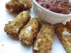 Marinara Sauce and Panko Mozzarella Sticks