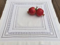Schwalm Whitework tablecloth adaptation from Luzine Happel's book Fancy Hems