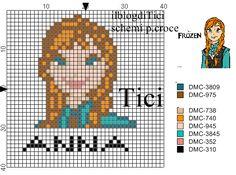 Schema punto croce mini Anna di Frozen sul mio blog: ilblogditici