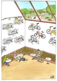 prize Euro-Kartoenale 2013 'The bicycle': Ross Thomson Win Prizes, Euro, Cartoons, Bicycle, Bicycle Kick, Animated Cartoon Movies, Cartoon, Bike, Bmx