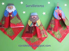 Manualidades Con i de idea: Servilleteros de los Reyes Magos