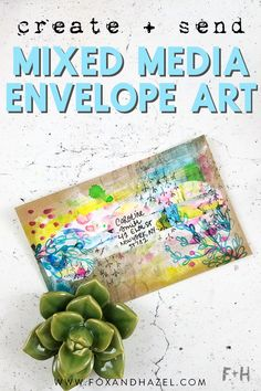 Mixed Media Envelope Art with Roben-Marie Smith Envelope Design, Envelope Addressing, Altered Canvas, Art Journal Pages, Art Journaling, Diy Paper, Paper Crafts, Paintings, Envelopes