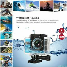 Camera-Sport-Etanche-Pieton-Activites-Filmees-Action-Full-HD-1080P-4K-GoPro-UK Action Sport, Full Hd 1080p, Sports Camera, Camcorder, Water Sports, In This Moment, Adventure, Electronics