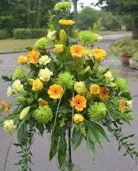 Image result for church pedestal flower arrangements