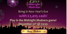 This New Year you might just get lucky! If you wish winning a massive £2,015, get down over to Bingo3X and start pre-buying your tickets to the game today!