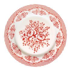 GreenGate Stoneware Plate Stephanie Red D 20,5 cm